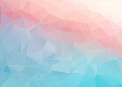 Wall mural Colorful flat background with triangles shape