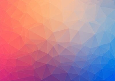 Wall mural Colorful geometric background with triangles