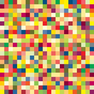 Wall mural Colorful pixel pattern