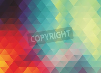 Wall mural colorful polygonal abstract vector texture or background