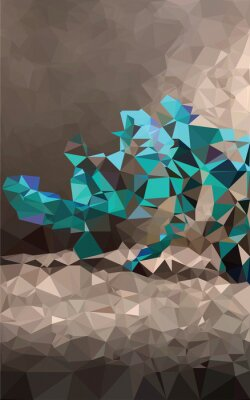 Wall mural Colorful polygonal background