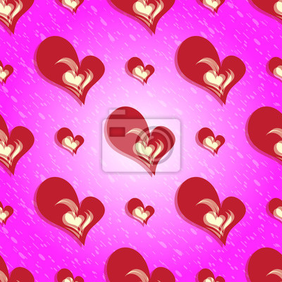 Colorful seamless pattern Valentine's Day red heart background