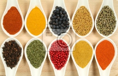 Wall mural Colorful spices