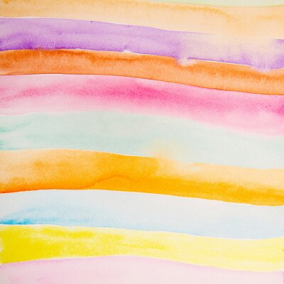 Wall mural colorful strips water color