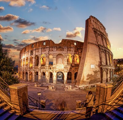 Wall mural Colosseum in the evening, Rome, Italy