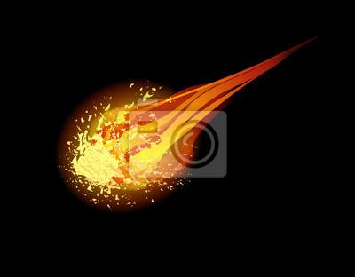 comet vector background