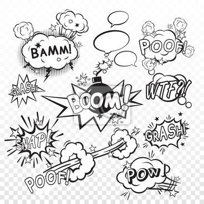 Wall mural Comic boom set