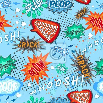 Wall mural Comic Chat Seamless Pattern
