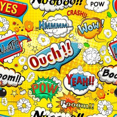 Wall mural Comic speech bubbles seamless pattern illustration