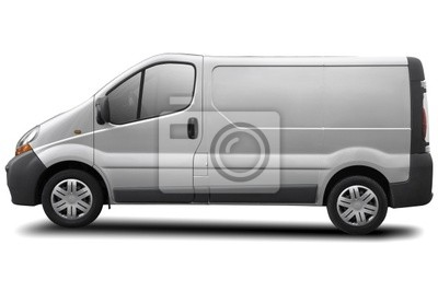 Wall mural commercial vehicle isolated on white