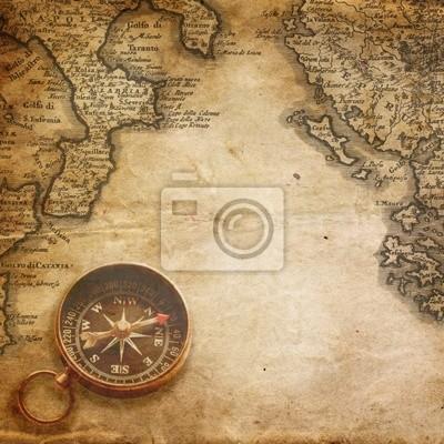 Wall mural Compass