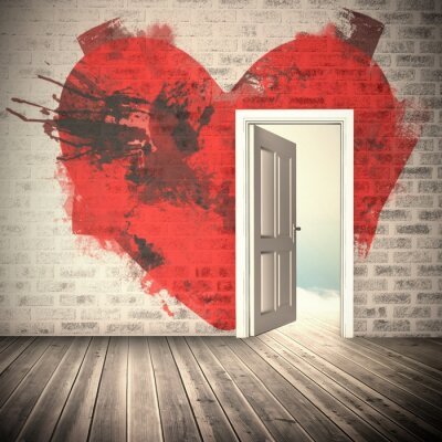 Wall mural Composite image of heart