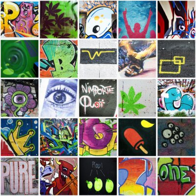 Wall mural Composition graffiti art urbain