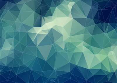 Wall mural Composition with triangles geometric shapes