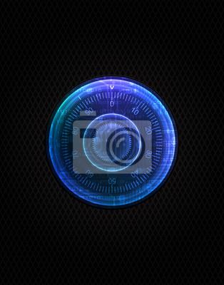 Conceptual background - computer data security, eps10 vector