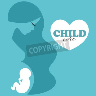 Conceptual background of the embryo. Vector Illustration