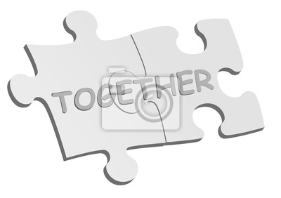 Conceptual background with puzzle pieces