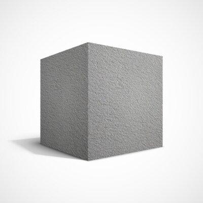 Wall mural Concrete cube