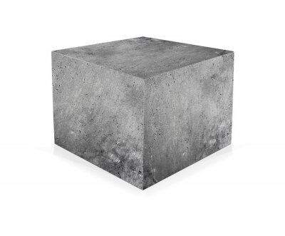 Wall mural Concrete cube isolated