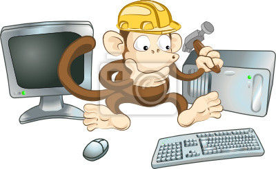 Wall mural Construction monkey