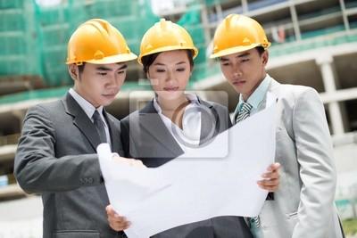 Construction site team