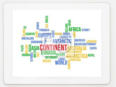 Wall mural Continent