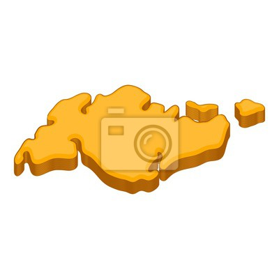 Wall mural Continent icon. Cartoon illustration of continent vector icon for web