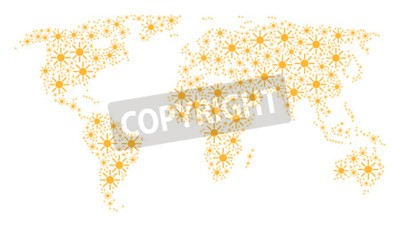 Wall mural Continent map concept made of sun pictograms. Vector sun pictograms are composed into conceptual continent illustration.