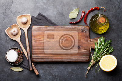 Cooking ingredients and utensils
