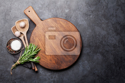 Wall mural Cooking ingredients and utensils