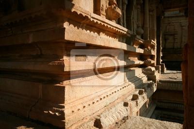 Corner of ancient building in hampi india