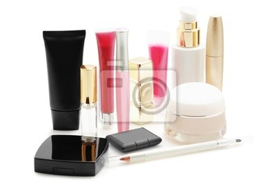 Wall mural Cosmetics isolated on a white background