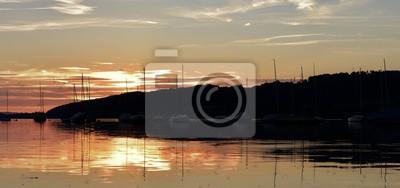 coucher de soleil sur le greifensee