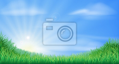 Countryside field and sun rise background