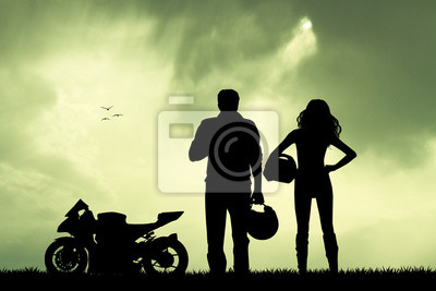 couple of motorcyclist