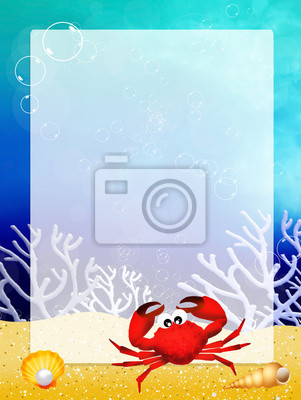 crab with frame