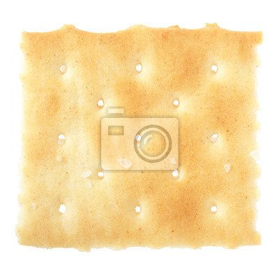 Wall mural Cracker isolated on white, clipping path included