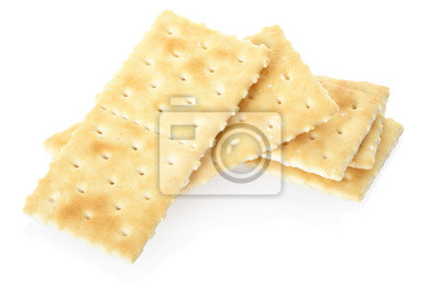 Wall mural Crackers isolated, clipping path included