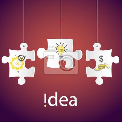 Creative technology business Network process concept idea,