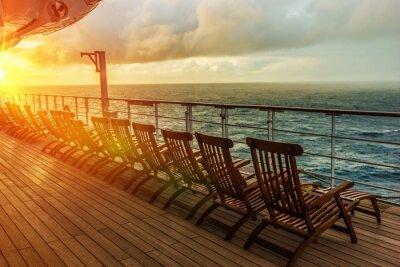 Wall mural Cruise Ship Deck Chairs