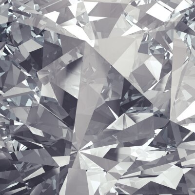 Wall mural crystal facet background