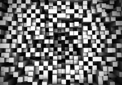 Wall mural Cube extrusion