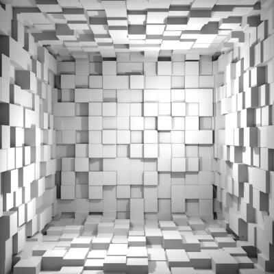 cube room 3d background mural murals literal. Black Bedroom Furniture Sets. Home Design Ideas