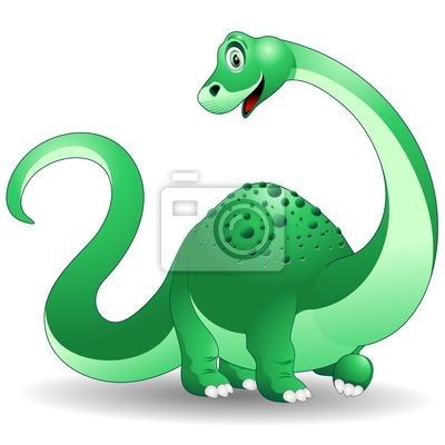 Cucciolo dinosaur Brontosaurus Dinosaur -Baby -Vector
