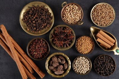 Wall mural Culinary spices.