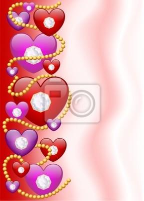Cuori di Diamanti-Diamond Hearts Background-Vector