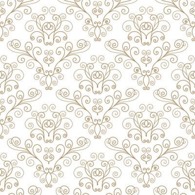 Wall mural Curly seamless pattern