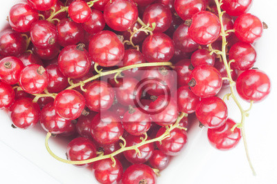 currants in a white bowl