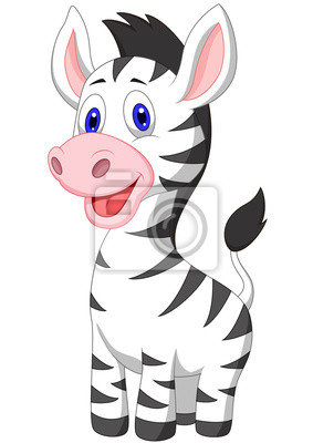 Cute baby zebra cartoon