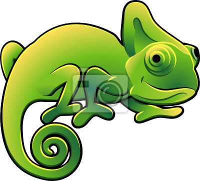 Wall mural Cute Chameleon Vector Illustration